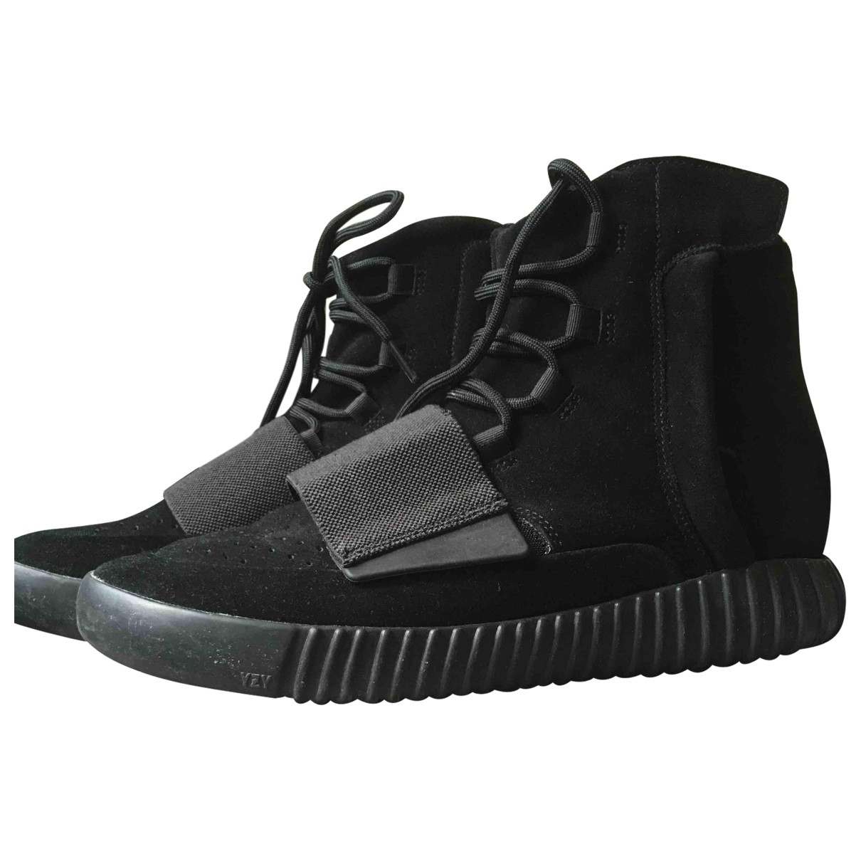 Yeezy X Adidas Boost 750  Black Leather Trainers for Men 45 EU