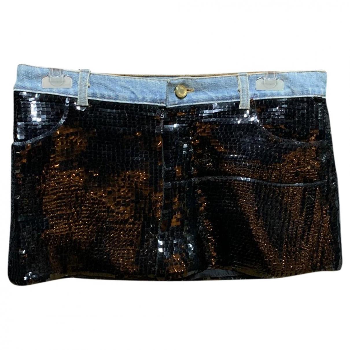 Roberto Cavalli \N Black Glitter skirt for Women S International