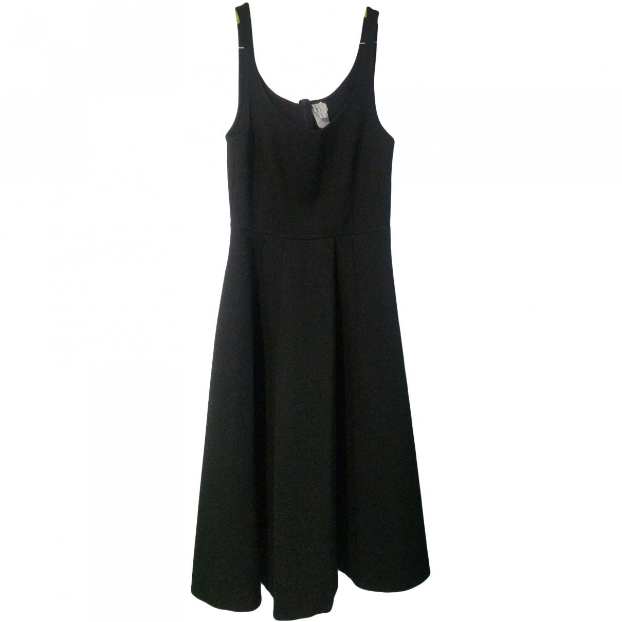 & Stories \N Black Cotton - elasthane dress for Women 6 UK