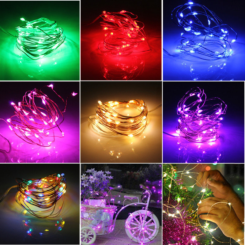 3M 4.5V 30 LED Battery Operated Silver Wire Mini Fairy String Light Multi-ColorXmas Party Decor