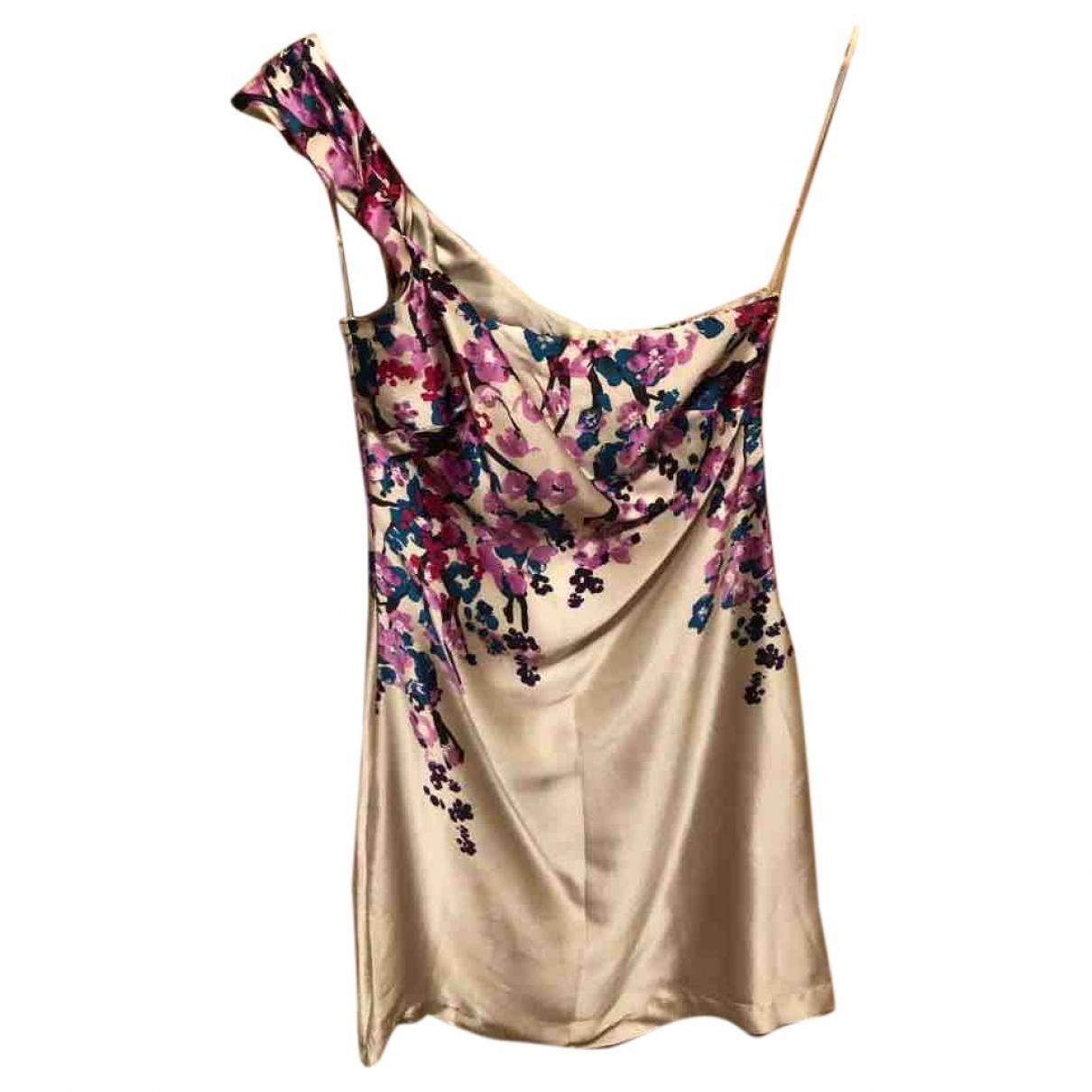 Mango \N White Silk dress for Women S International