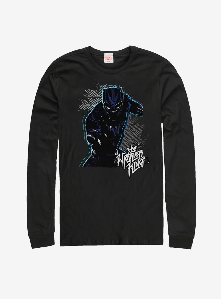 Marvel Black Panther Triangle Pattern Long Sleeve T-Shirt