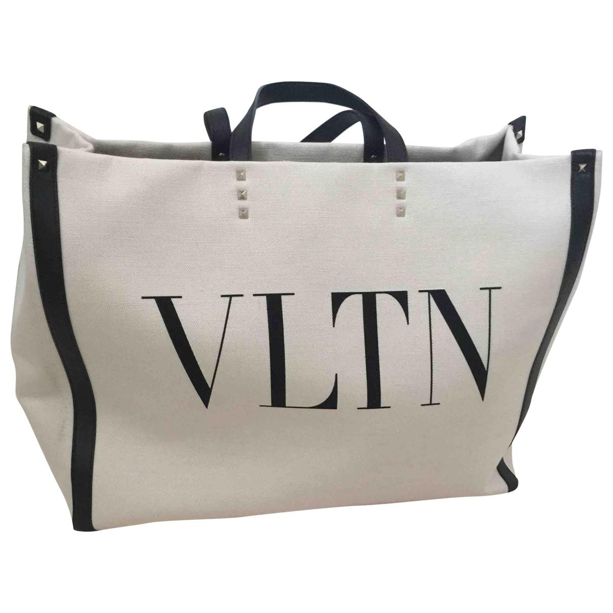 Valentino Garavani Tote VLTN Ecru Cloth handbag for Women \N