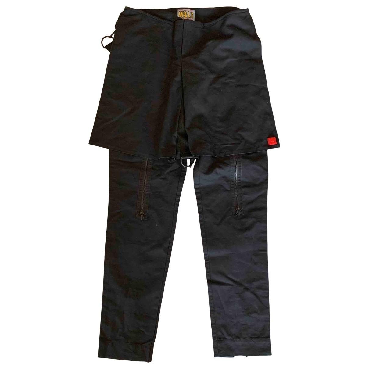 Walter Van Beirendonck \N Black Cotton Trousers for Men M International