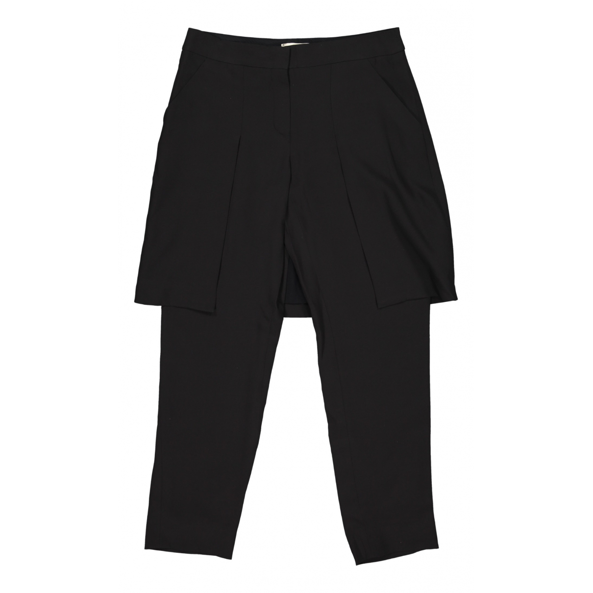 Fendi \N Black Silk Trousers for Women 42 IT