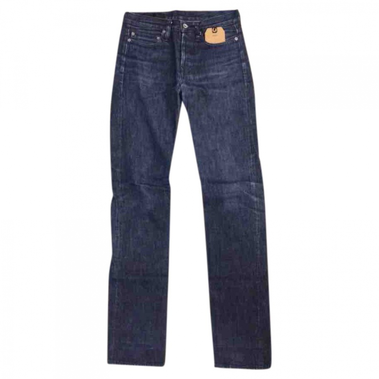 Maison Kitsune \N Navy Cotton Jeans for Men 28 US