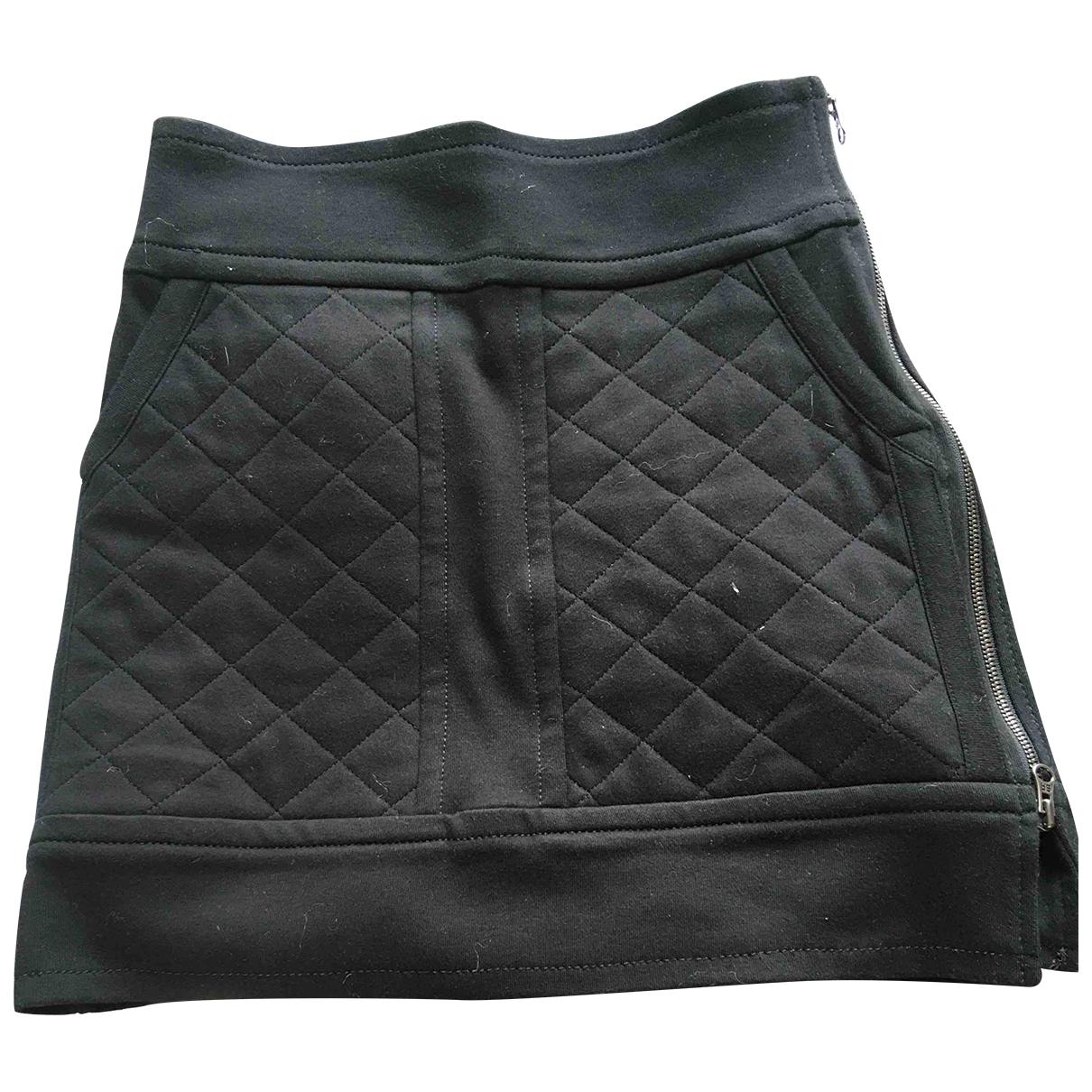 Sonia Rykiel \N Black Cotton skirt for Women 36 FR