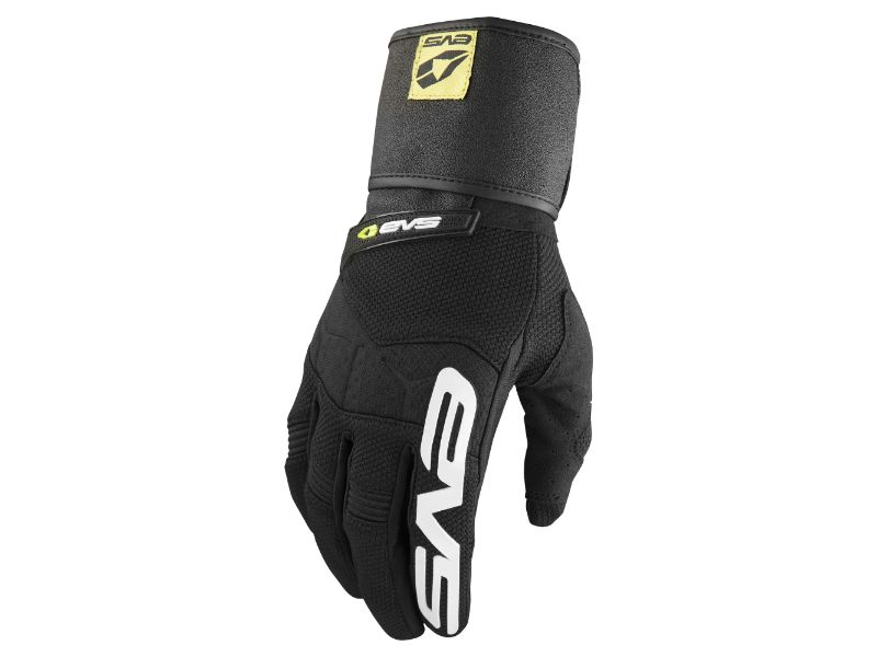 EVS GLWRAP-BK-XL Black Men's Wrap Gloves XL