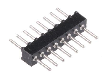 Preci-Dip , 8 Way, 1 Row, Straight Backplane Connector (5)