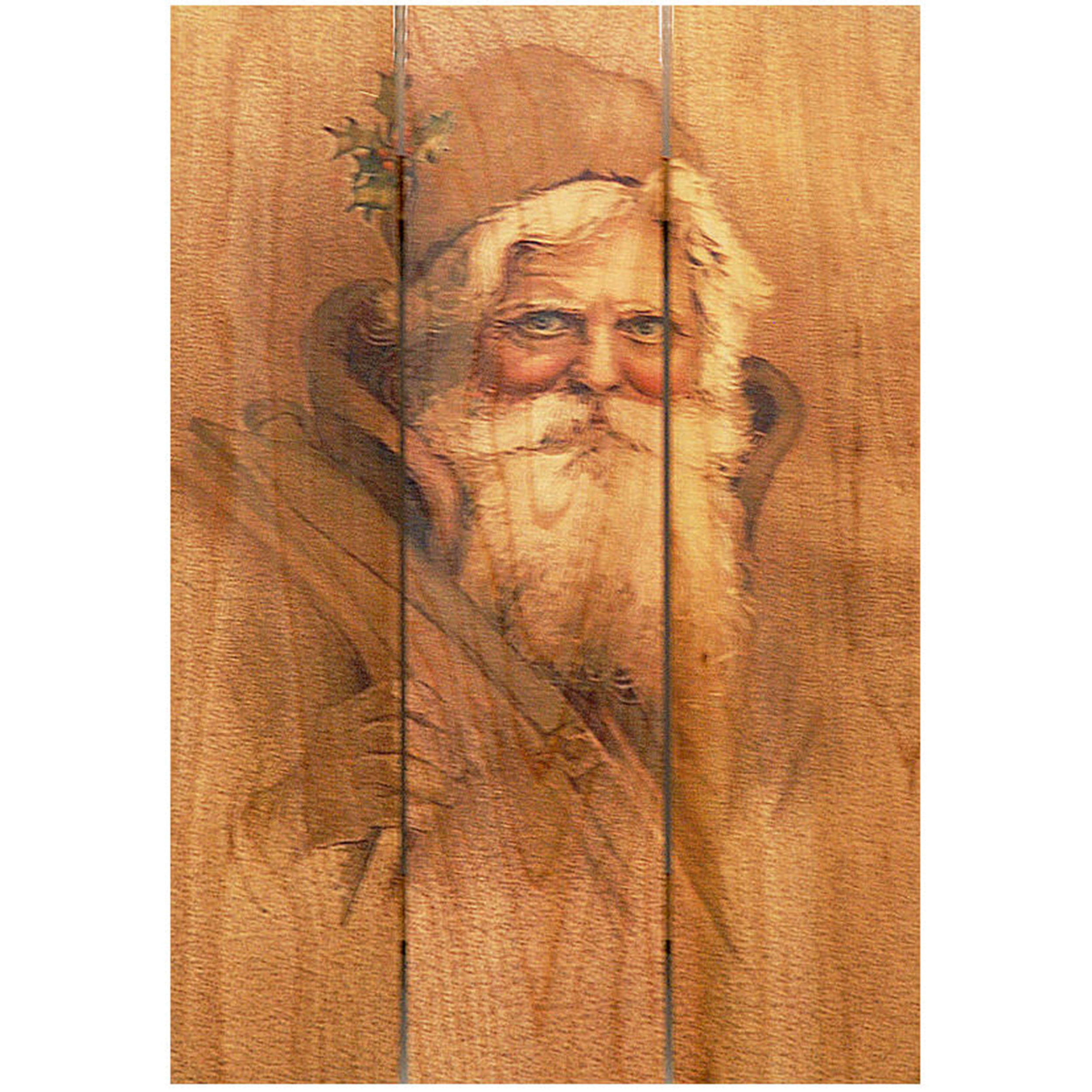 Daydream Gizaun Cedar Wall Art, Father Christmas, 16