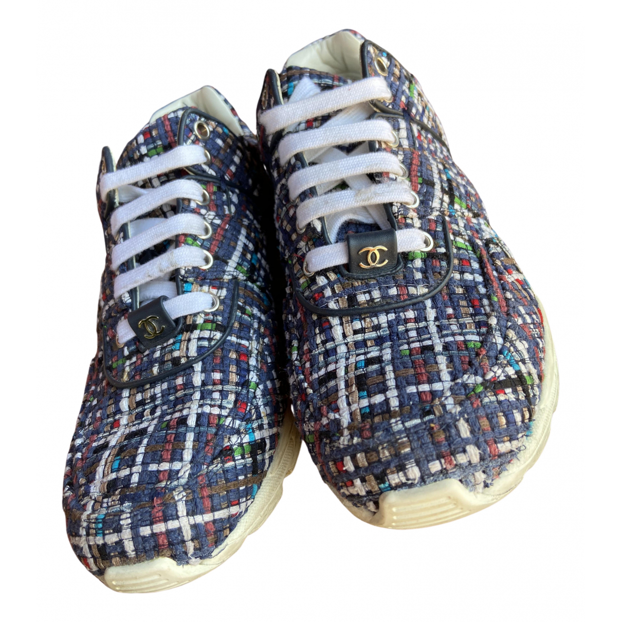 Chanel \N Blue Tweed Trainers for Women 38.5 IT