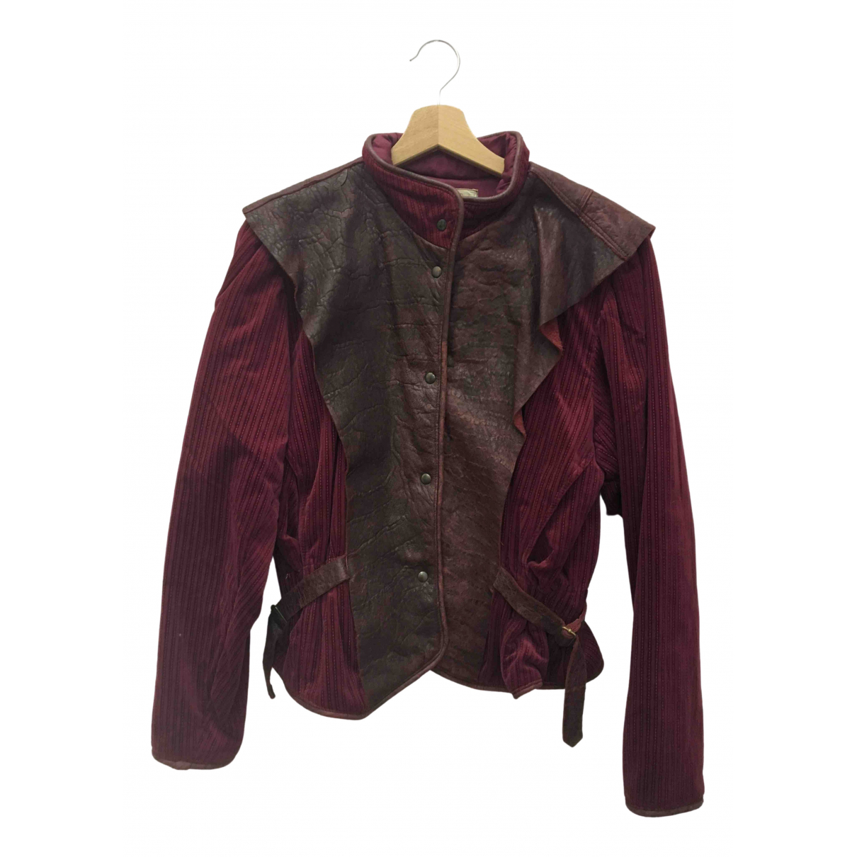 Non Signé / Unsigned \N Burgundy Cotton jacket for Women 42 IT
