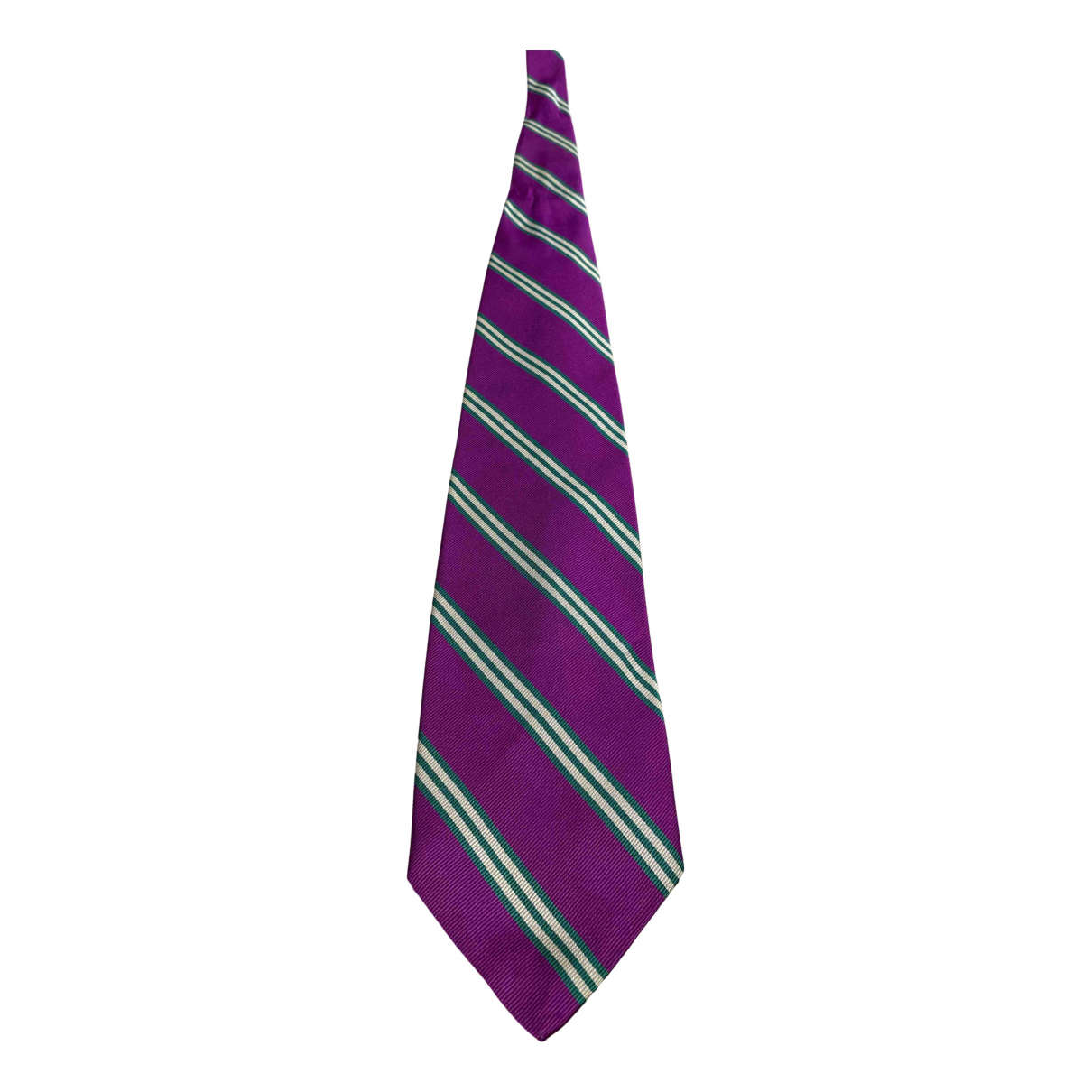 Abercrombie & Fitch \N Purple Silk Ties for Men \N