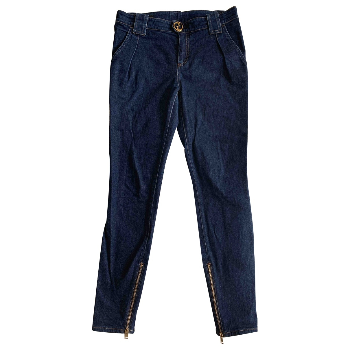Gucci \N Blue Cotton - elasthane Jeans for Women 40 FR
