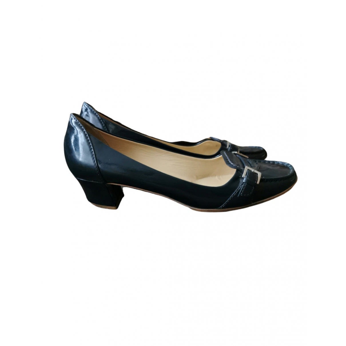 Tod's \N Blue Leather Heels for Women 38.5 IT