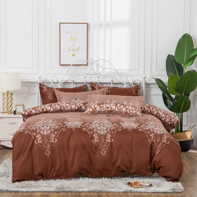 Solid Color Lace Jacquard 3 Colors Optional Reactive Printing 3-Piece Polyester Bedding Sets/Duvet Covers