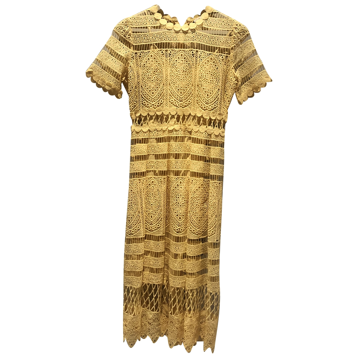 Maje Spring Summer 2019 Yellow Lace dress for Women 1 0-5