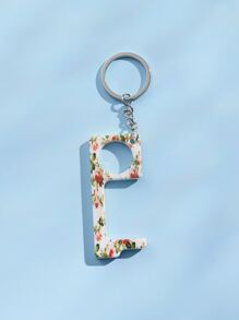 Ditsy Floral Pattern Charm Keychain