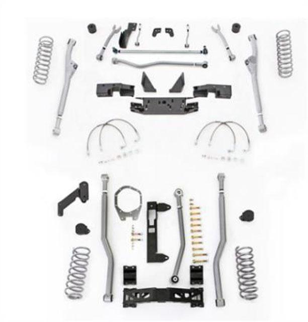 4.5 Inch JK Unlimited Lift Kit Extreme Duty Long Arm System 3 Link No Shocks 07-18 Jeep Wrangler JKU 4 Dr Rubicon Express JKR344