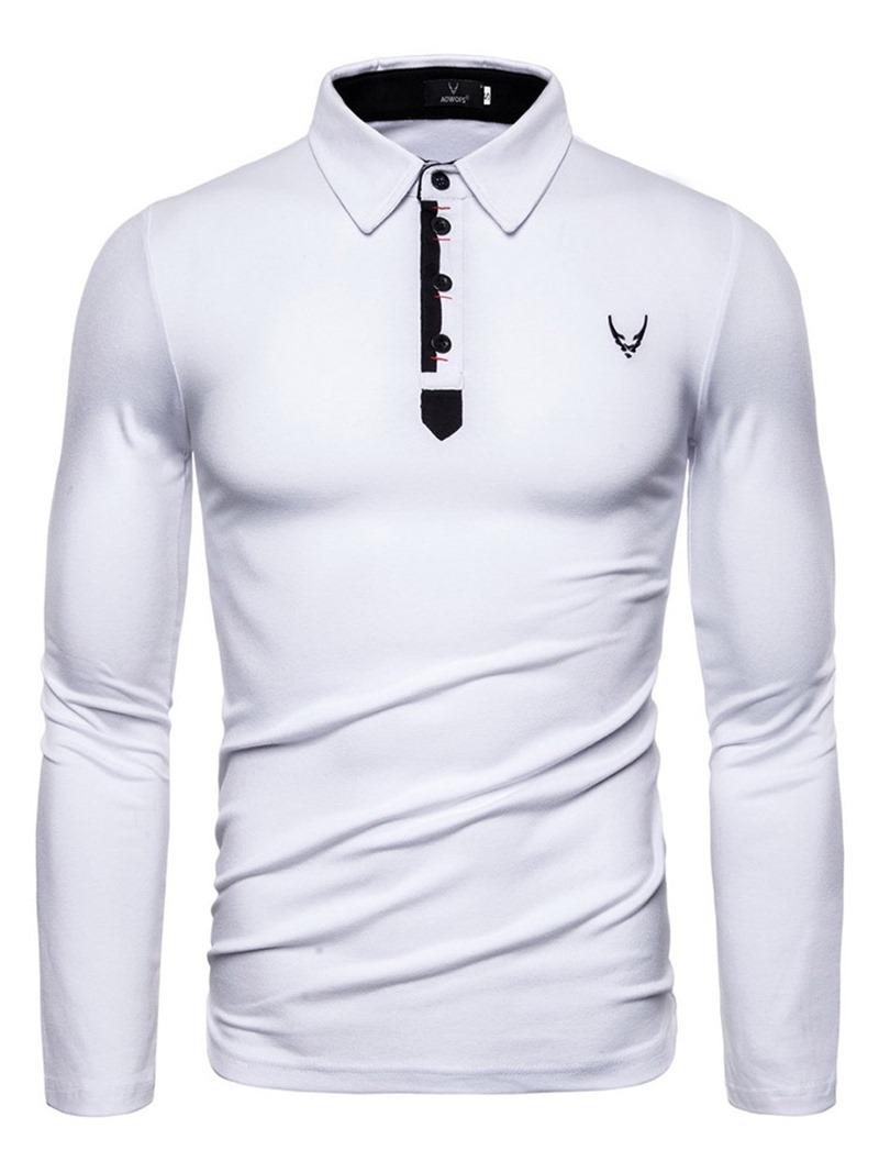 Ericdress Color Block Casual Standard Mens Polo Shirt