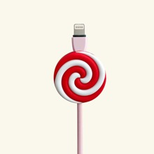 1pc Lollipop Design Phone Cable Protector