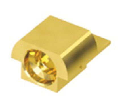 Samtec Straight 50Ω PCB Mount Coaxial Connector, Plug, Gold, Edge Mount Termination, Microwave