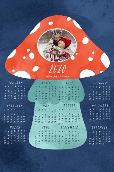 Calendar 24x36 Adhesive Poster, Home Décor -Amanita Muscaria