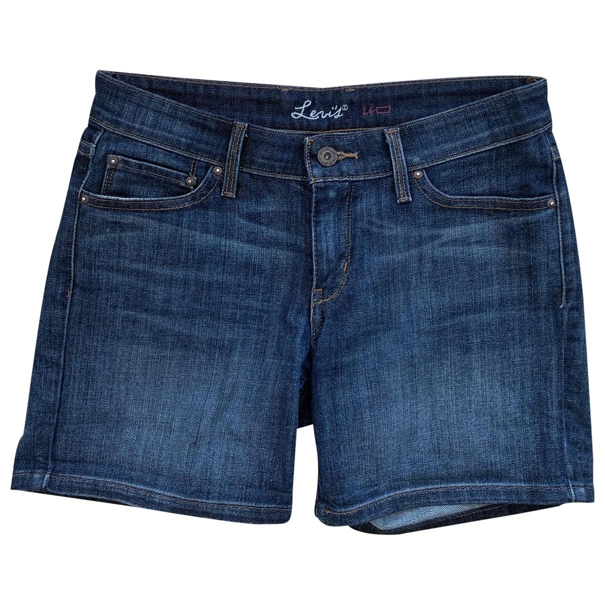 Levi's \N Blue Cotton - elasthane Shorts for Women 36 FR