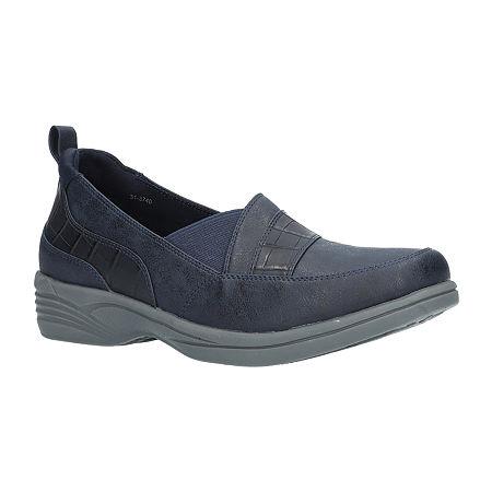 Easy Street Womens Fernly Slip-On Shoe, 8 1/2 Wide, Blue
