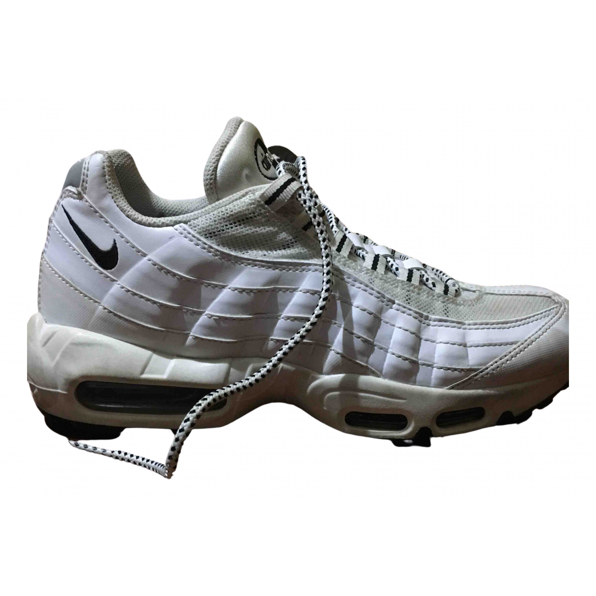 Nike Air Max 95 White Leather Trainers for Men 41 EU