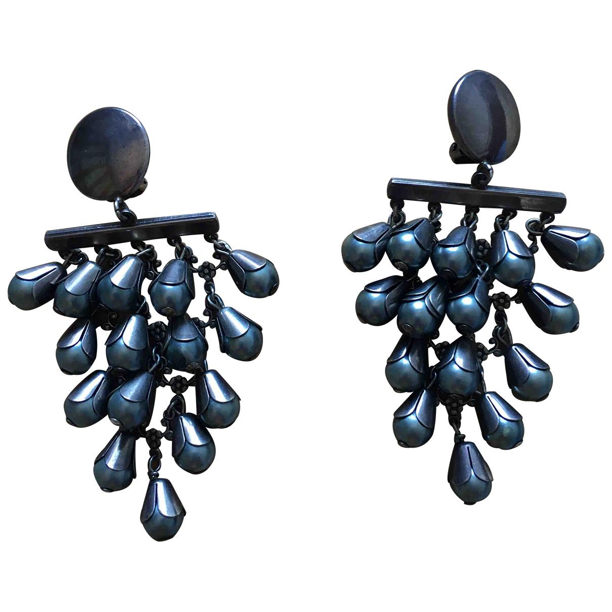 Gas \N Anthracite Metal Earrings for Women \N