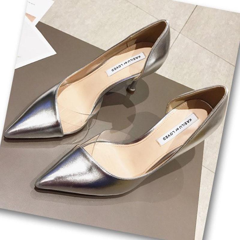 Ericdress PU Slip-On Pointed Toe Stiletto Heel Women's Pumps