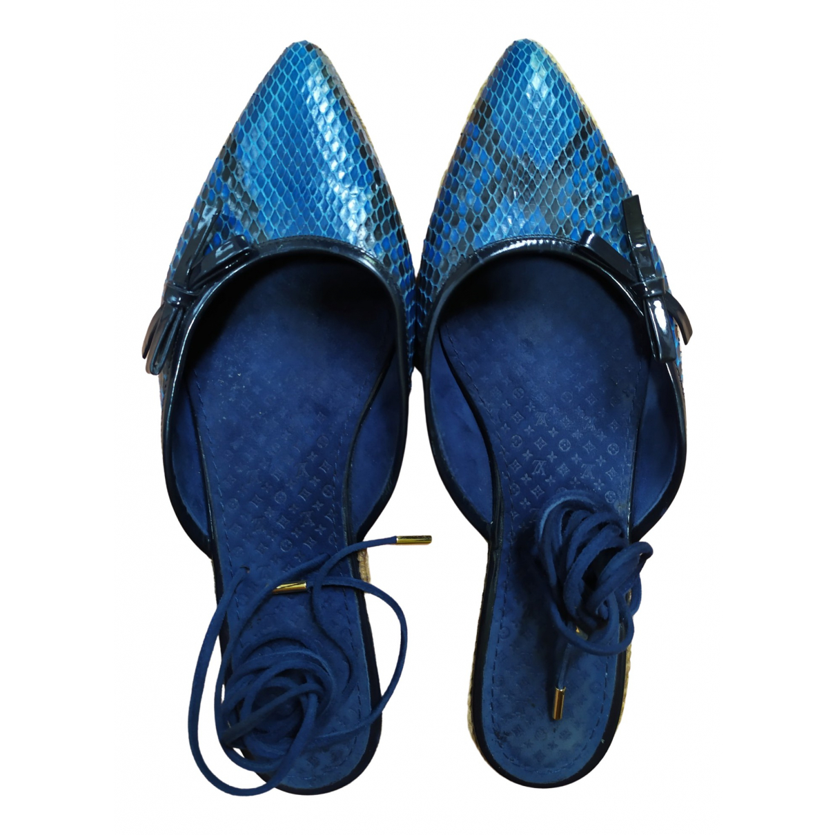 Louis Vuitton \N Blue Water snake Sandals for Women 39 EU