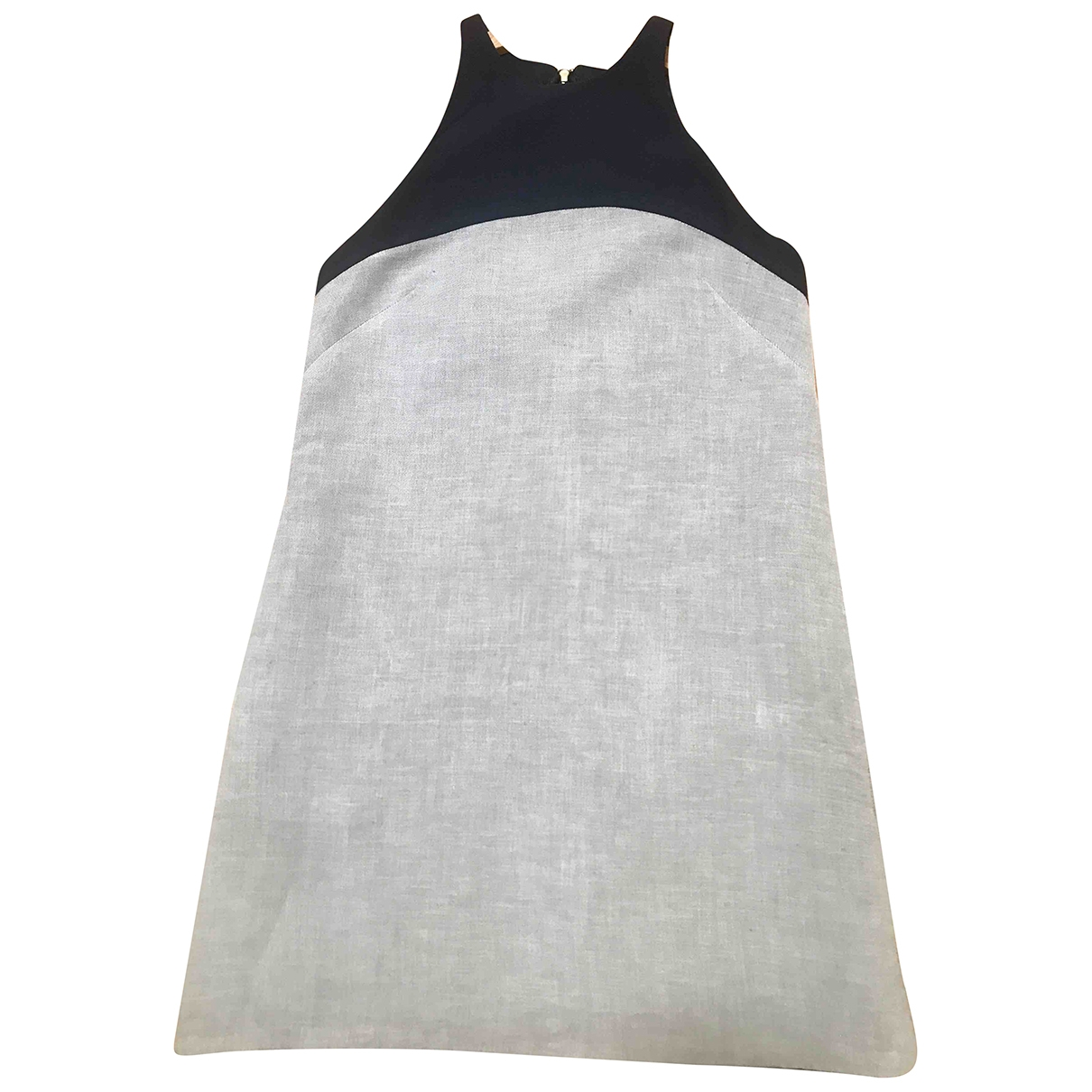 Non Signé / Unsigned Oversize Grey Cotton dress for Women XS International