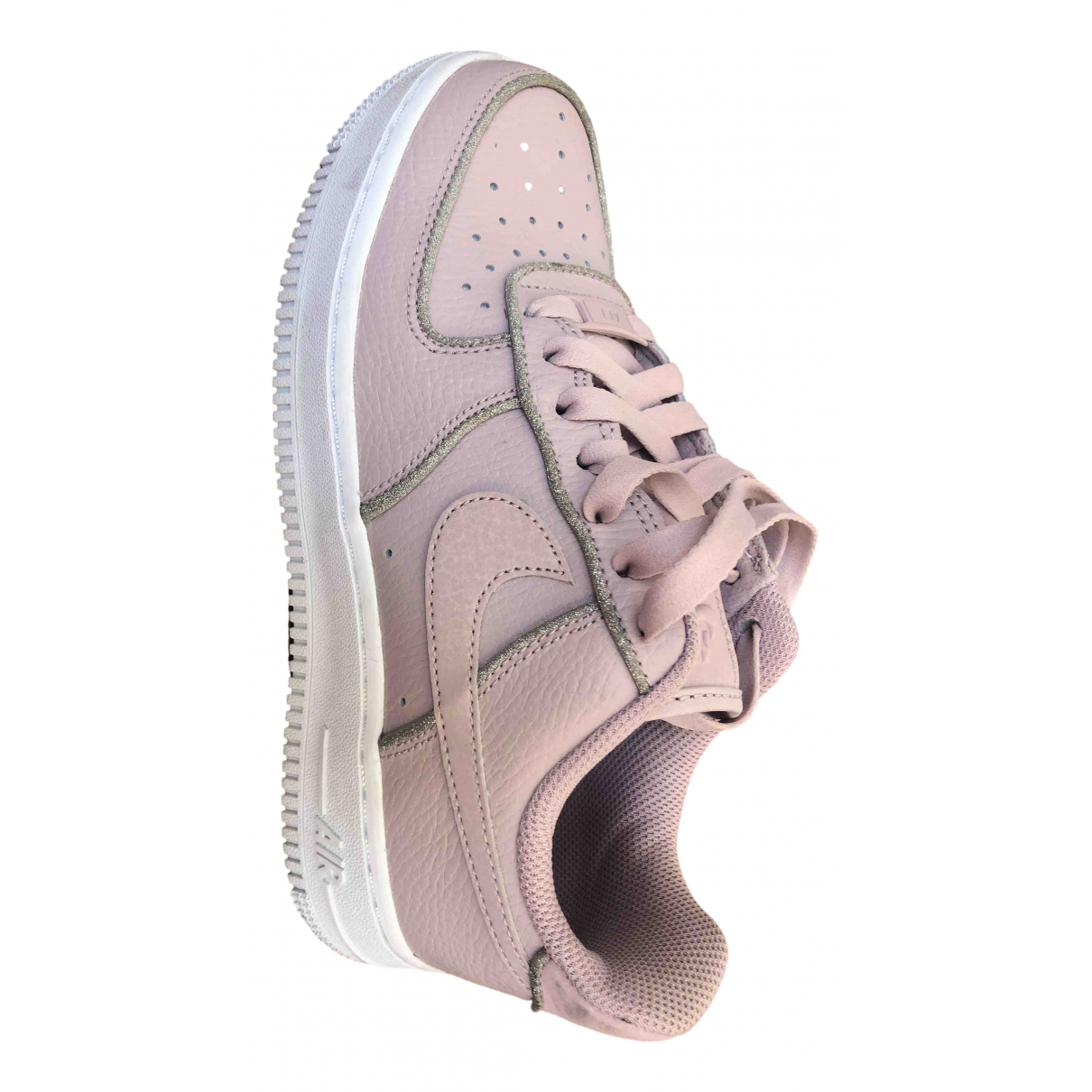 Nike Air Force 1 Pink Leather Trainers for Women 36 EU
