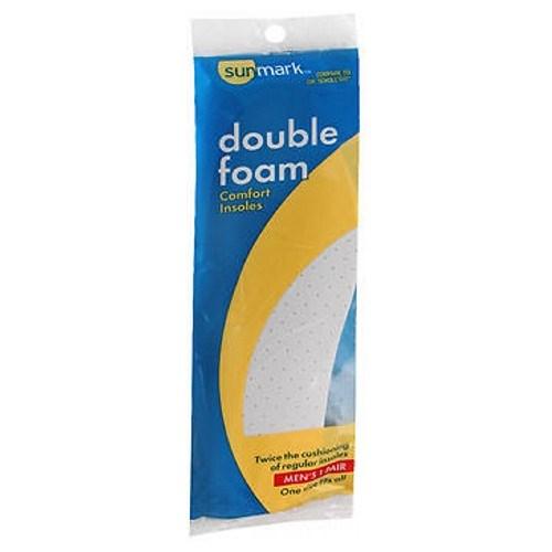 Sunmark Double Foam Comfort Insoles Mens 1 each by Sunmark