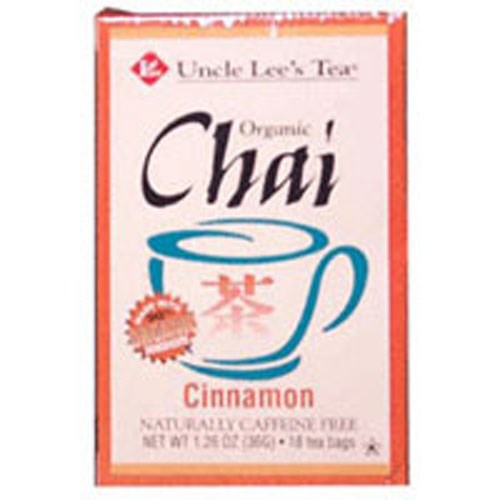 Organic Chai Tea CINNAMON , 18 BAG by Uncle Lees Teas