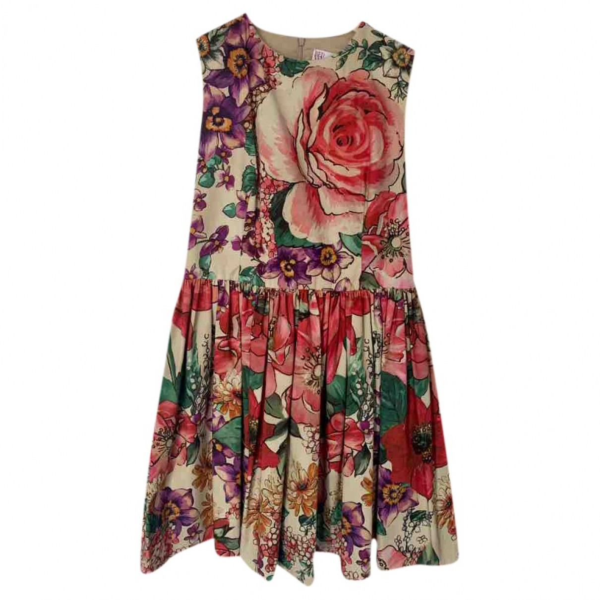 Red Valentino Garavani \N Multicolour Cotton dress for Women 36 FR