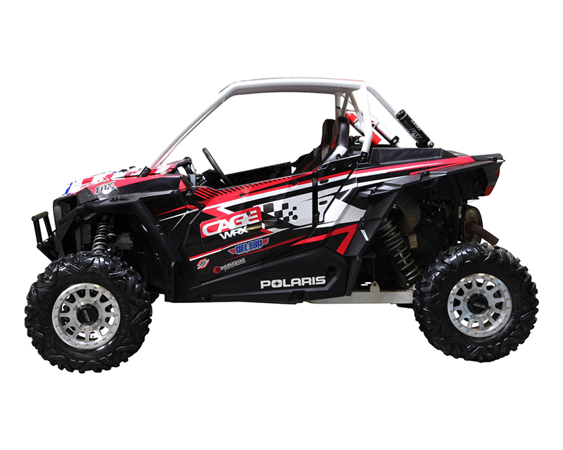 CageWrx CAG2SXP1KSS Unfinished Steel Fully Assembled Super Shorty Roll Cage with Roof Polaris RZR XP 1000