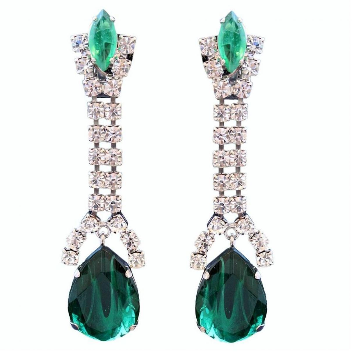 Carlo Zini \N Green Metal Earrings for Women \N