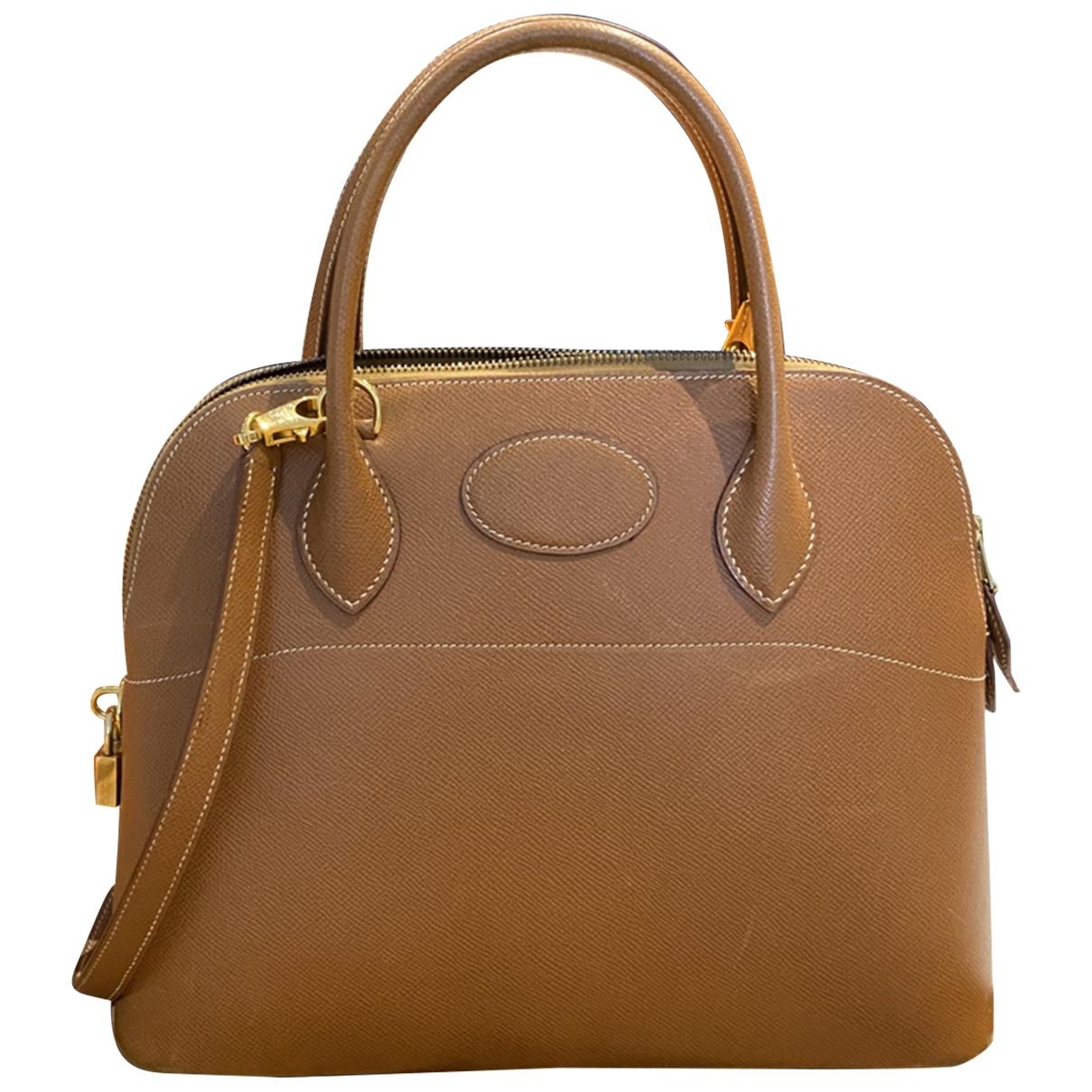 Hermès Bolide Camel Leather handbag for Women \N