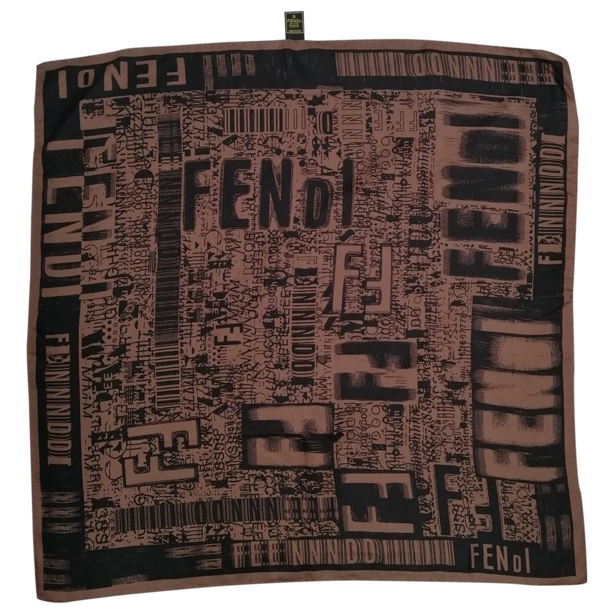 Fendi \N Brown Silk Silk handkerchief for Women \N