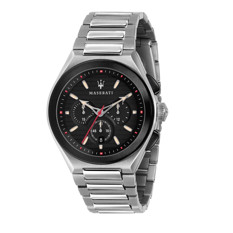 Maserati Men's Triconic R8873639002 Silver Stainless-Steel Quartz Dress Watch