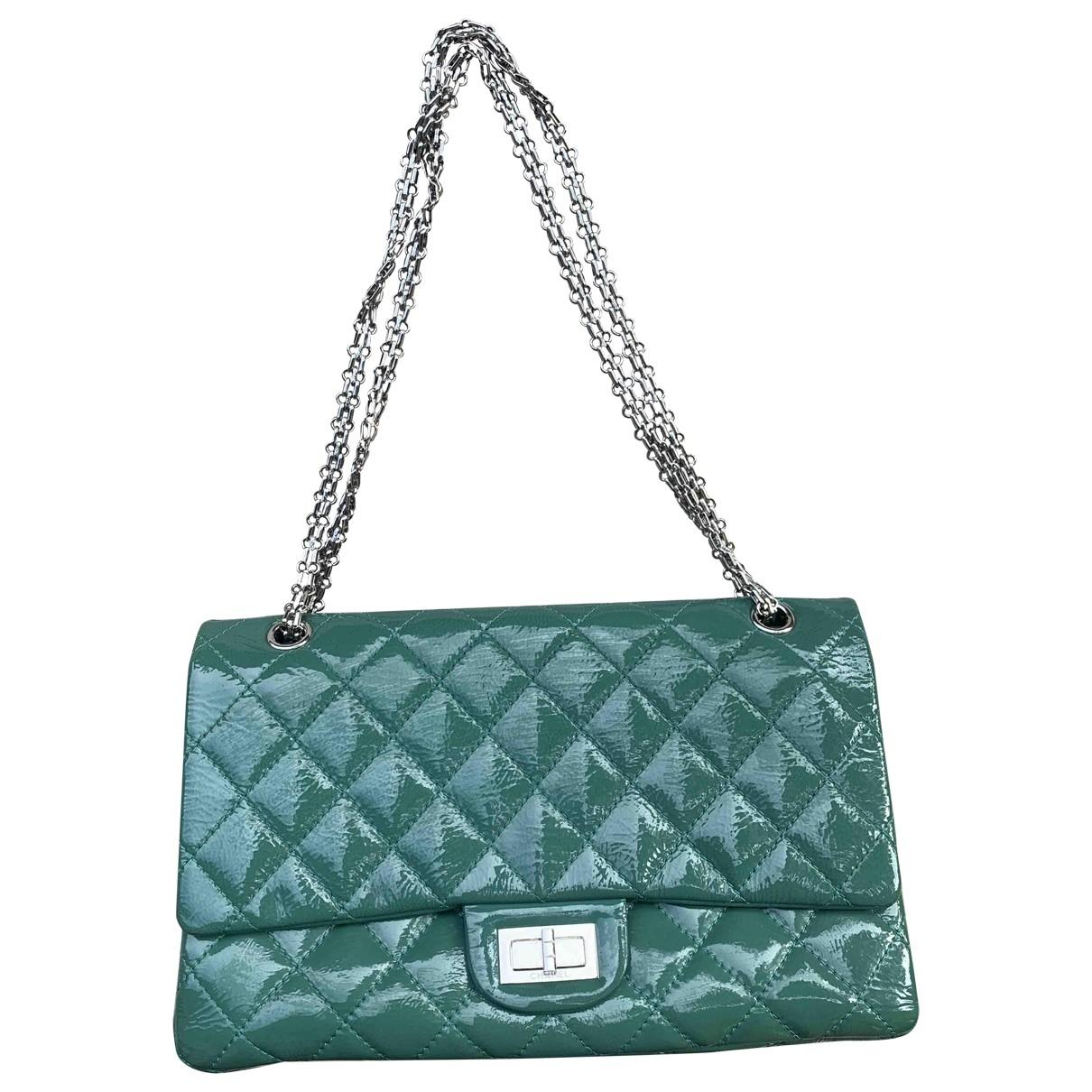 Chanel 2.55 Green Patent leather handbag for Women \N