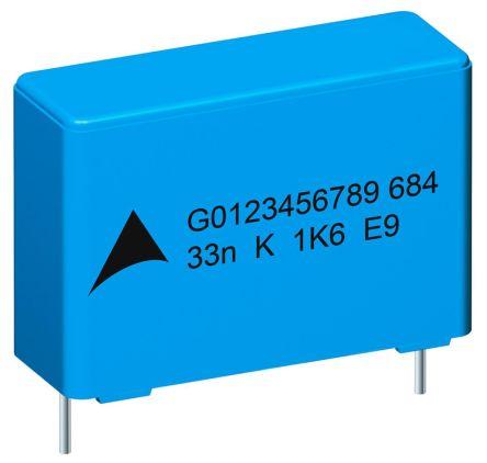 EPCOS 1.5nF Polypropylene Capacitor PP 2 kV dc, 550 V ac ±10% Tolerance B32682 Series (5)