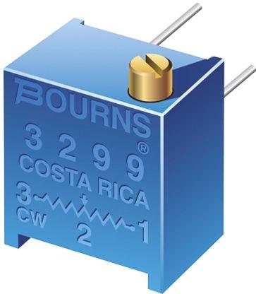 Bourns 500Ω, Through Hole Trimmer Potentiometer 0.5W Side Adjust , 3299