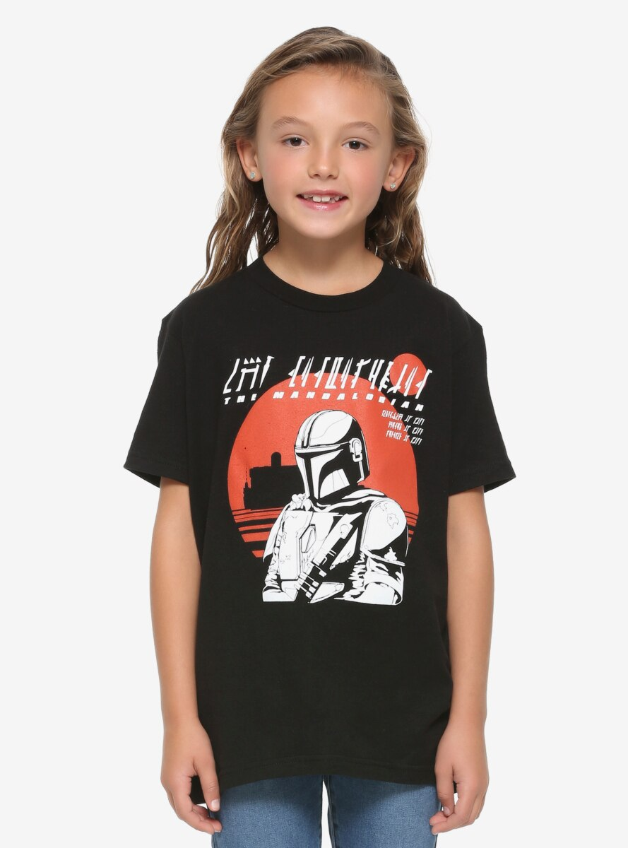 Star Wars The Mandalorian Sunset Youth T-Shirt - BoxLunch Exclusive