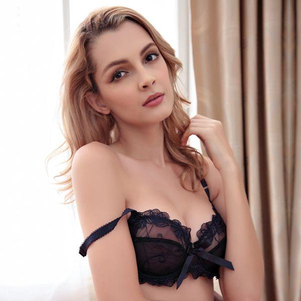 Unique Streamlined Flower Relief Design And Most Popular Sexy Bras Underwear Sets