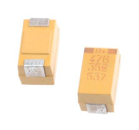 KEMET Tantalum Capacitor 47μF 35V dc MnO2 Solid ±10% Tolerance , T495 (2)