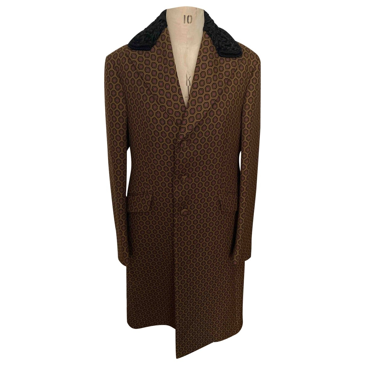 Prada \N Brown Wool coat  for Men 48 IT